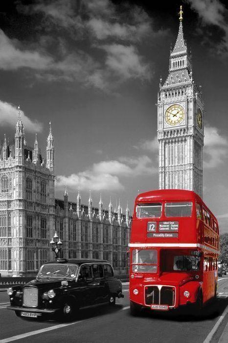 Bus anglais rouge - Image de bus anglais ...